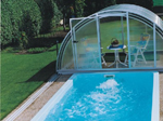 Swimming Pool Teneriffa 5B with standard 3-piece swimming pool cover
