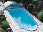 4-piece swimming pool cover (swimming pool Sun)