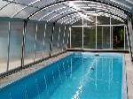 Both-side walkable swimming pool cover Ultima, inner view